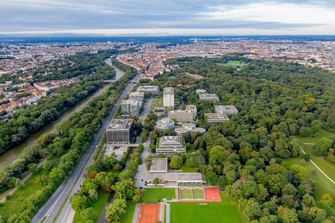 Aerial view of Tucherpark