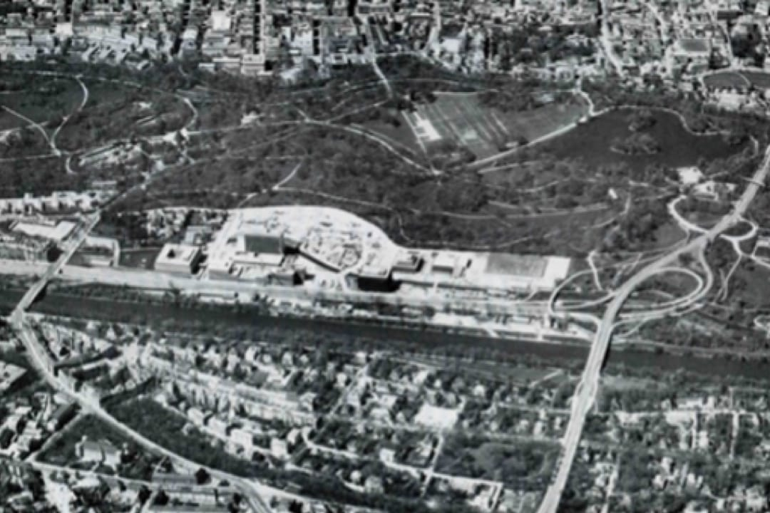 Tucherpark under construction 1973